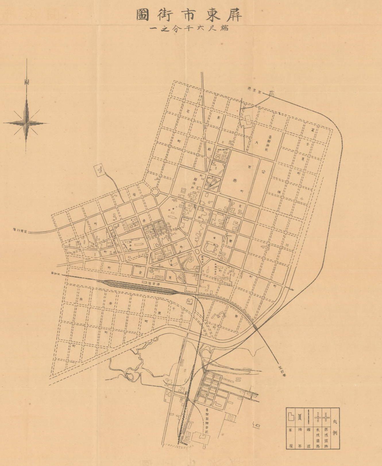 屏東市町名位置圖