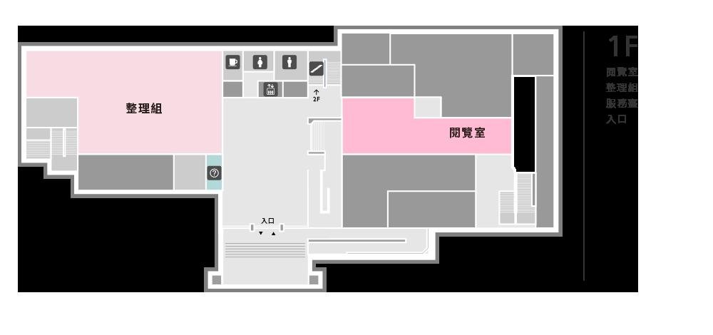 文獻大樓1F示意圖